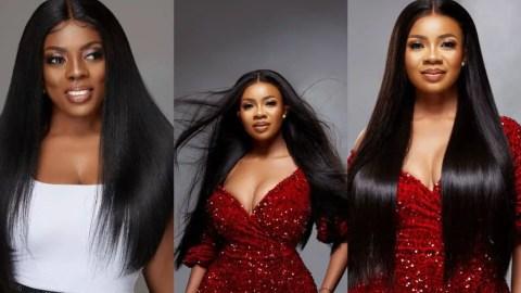 Bone Straight Hair: See How Nana Aba Anamoah And Her 'Daughter' Serwaa Amihere Rocked The Expensive Hair- Photos