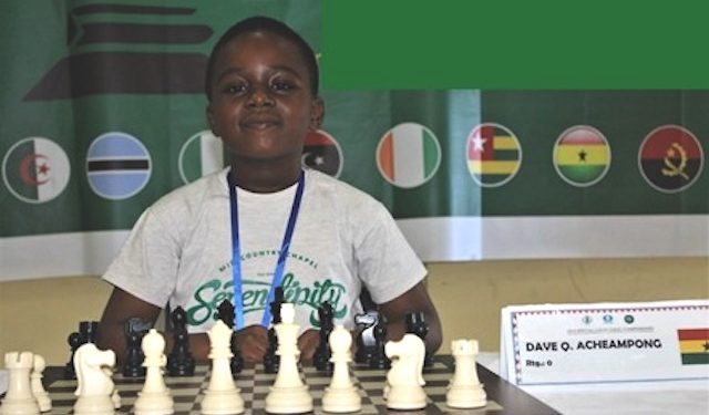Dave Achempong: 8-year-old becomes first Ghanaian to win Africa Under-9 Chess Championship