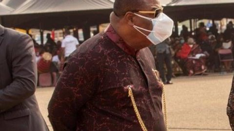 ArchBishop Nicholas Duncan Williams Spotted Wearing A Double Nose Mask
