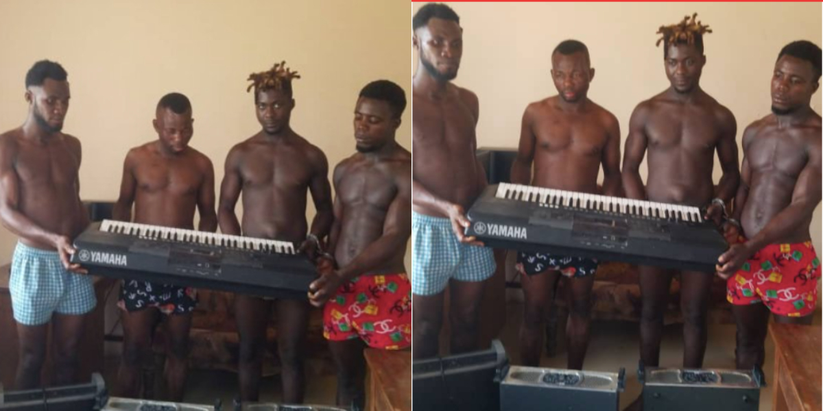 4 guys arrested for stealing church instruments