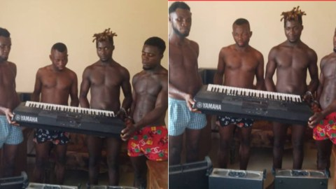 Photos: 4 guys arrested for stealing church instruments