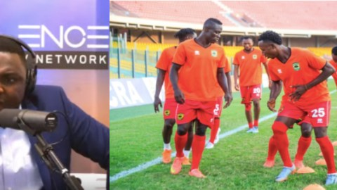 """Video: """"Don't come to Ghana if you lose the match today"""" – Kelvin Taylor tells Kotoko players"""