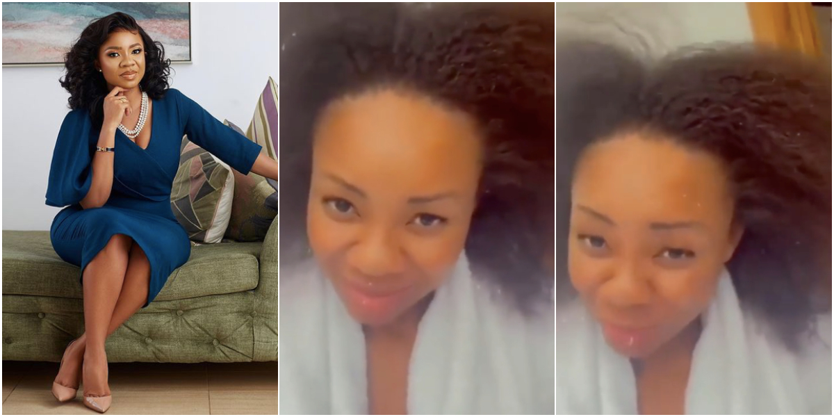 Video: See the REAL face of Serwaa Amihere without makeup and Bone Straight hair