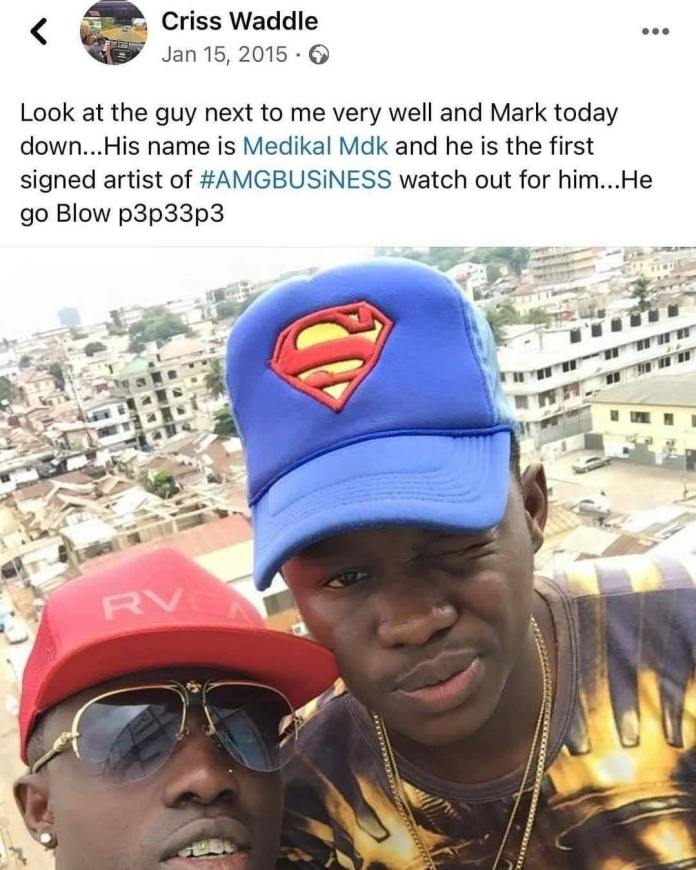 Criss Waddle's post about Medikal becoming the best rapper 6 years ago
