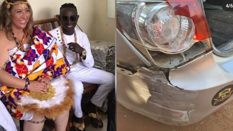 (+VIDEO) Pataapa And Wife Narrowly Escape Death As They Get Involved In An Accident