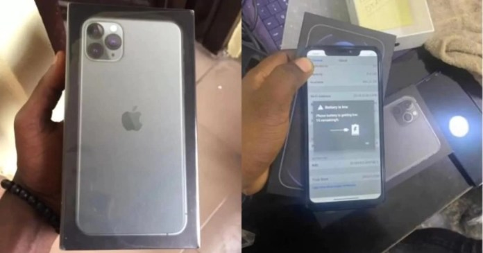Lady duped into buying an iPhone with an Android operating system