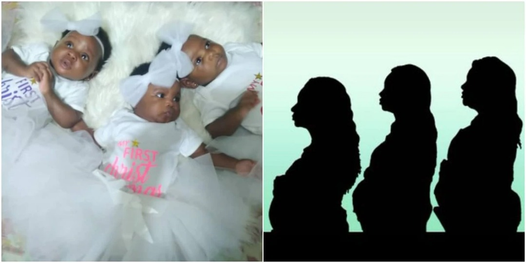Husbands to three sisters who got pregnant at the same time express anger and confusion