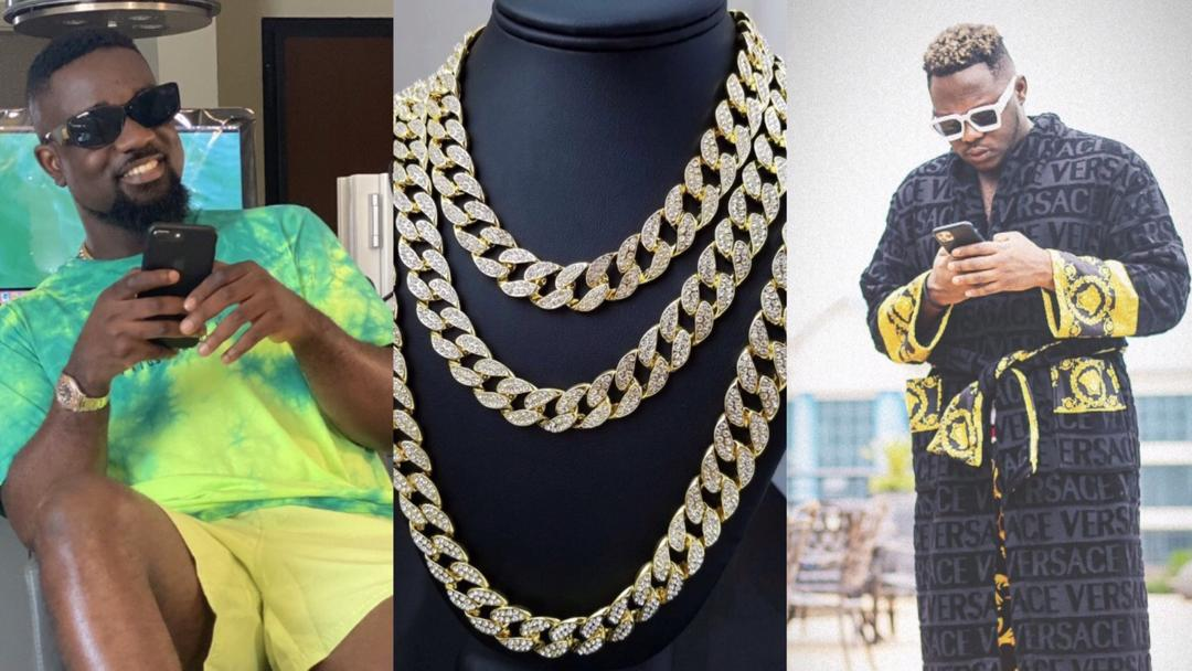 Medikal orders Cuban Necklace worth $61K; fans react and say Sarkodie is too stingy to buy one