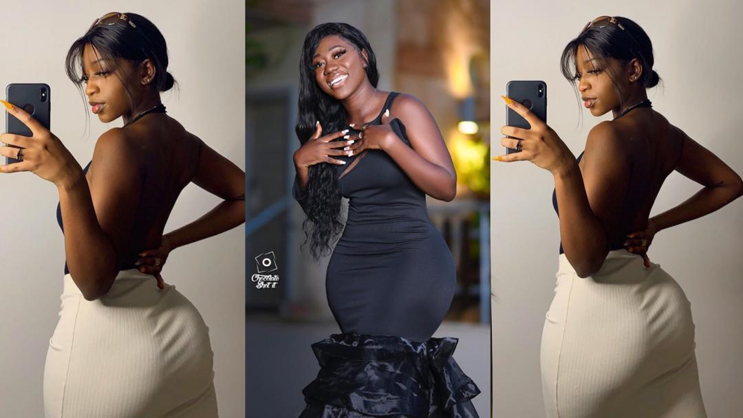 Lady named Marie drops viral #BussItChallenge video; netizens pressure Hajia Bintu to release hers as reply [Videos]