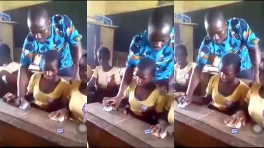 Heart-breaking video of Ghanaian teacher teaching students how to use computer mouse with stones