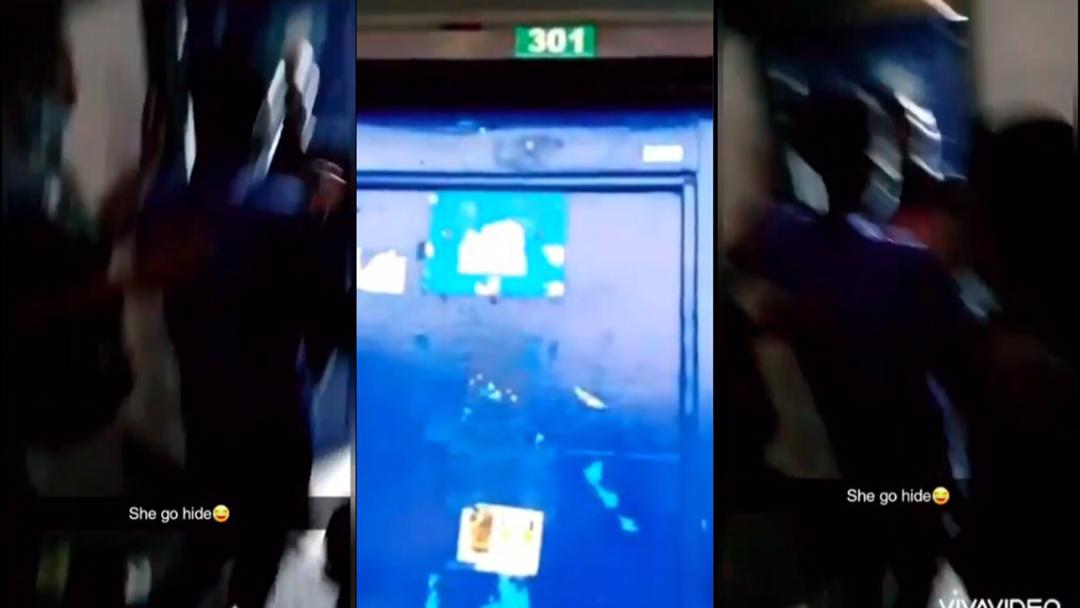 Felicia Addy: Level 100 Legon female student did video inviting guys to her hall room, surprised when the guys showed up [Video]