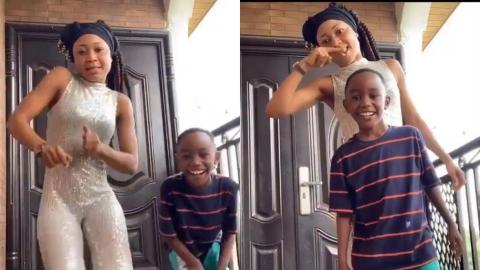 Akuapem Poloo And Son Put Smiles On Each Other's Face As They Have Fun Together
