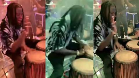 Stonebwoy Displaying His Drumming Skills Is The Real Deal (Video)