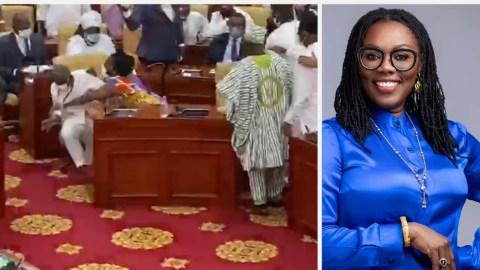 NDC MP Whose Laps Ursula Owusu Sat In Parliament Finally Speaks, Says He Felt Like A Wood