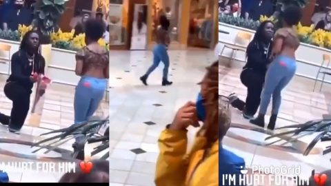 Young Guy Left In Tears After His Girlfriend Said No To His Proposal In Public