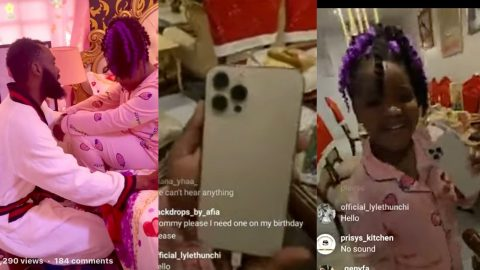 VIDEO: Rev Obofuor Gifts IPhone 12 ProMax to 7 year Old Daughter On Her Birthday..