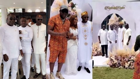 Video: Despite's Son Kennedy Osei And His Wife Tracey, Hold Naming Ceremony For Their Twins