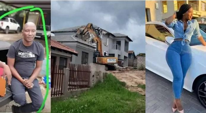 Man who demolished house he built for girlfriend