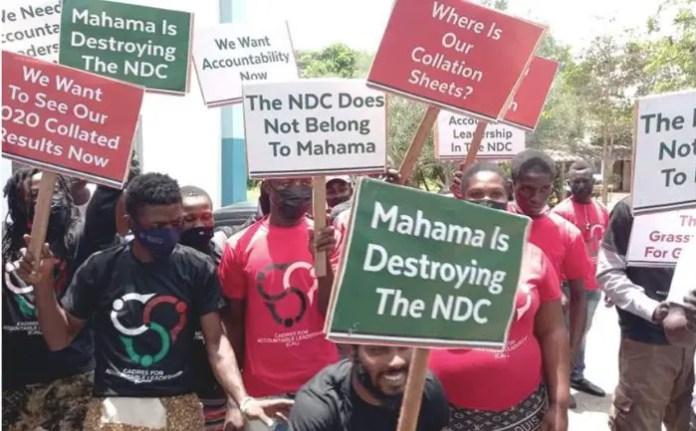 NDC faction demonstrate against Mahama