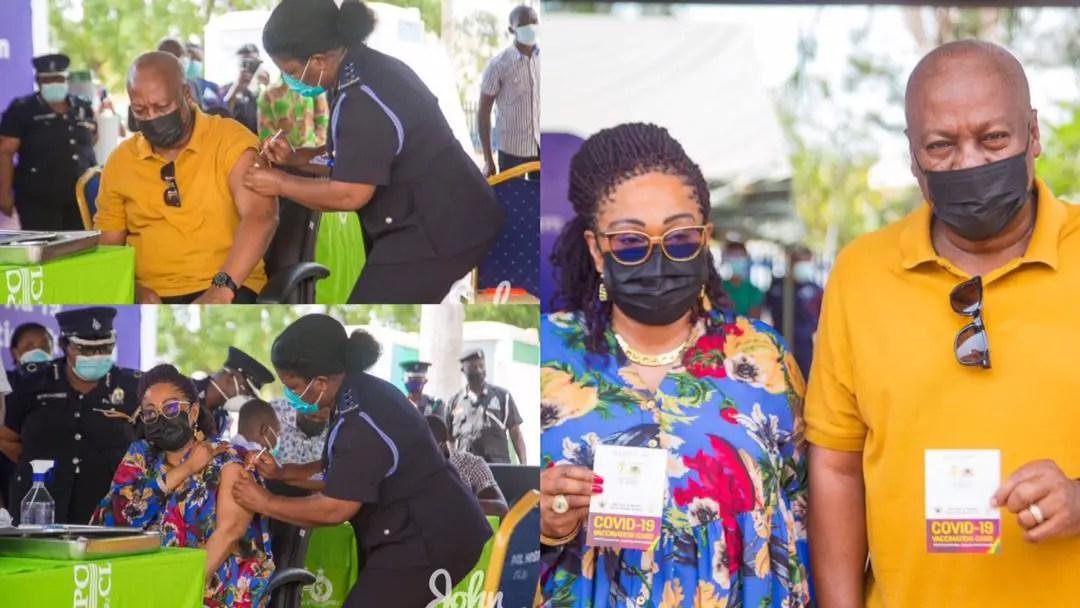 John Mahama, wife receive COVID-19 vaccines