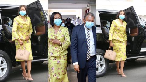 """How """"slayqueen"""" Jean Mensa slayed to the Supreme Court elegantly in the company of her husband [Photos]"""