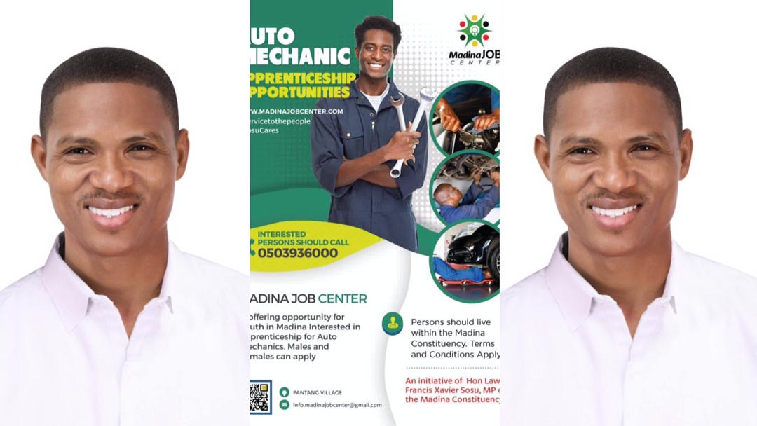 MP Francis Xavier-Sosu provides Free Auto Mechanic Training to youth in the Madina constituency