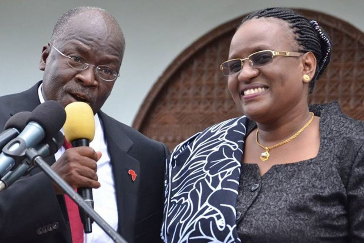 """""""My husband loved morning s3x so I'll miss him for that"""" – Wife of former Tanzania president Janeth Magufuli mourns husband"""
