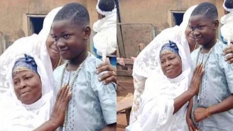 Kasoa Ritual Killing: Video of the moment Ishmael's body arrived from the mortuary for burial pops up