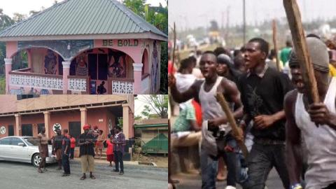 Kasoa Ritual Killing: Irate youth set ablaze vehicle belonging to husband of traditional priestess who allegedly deceived teenagers