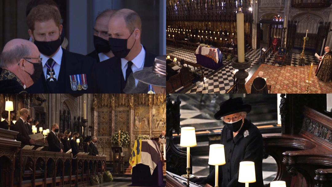 Prince Harry reunites with Prince William at funeral of Prince Philip, Duke of Edinburgh today