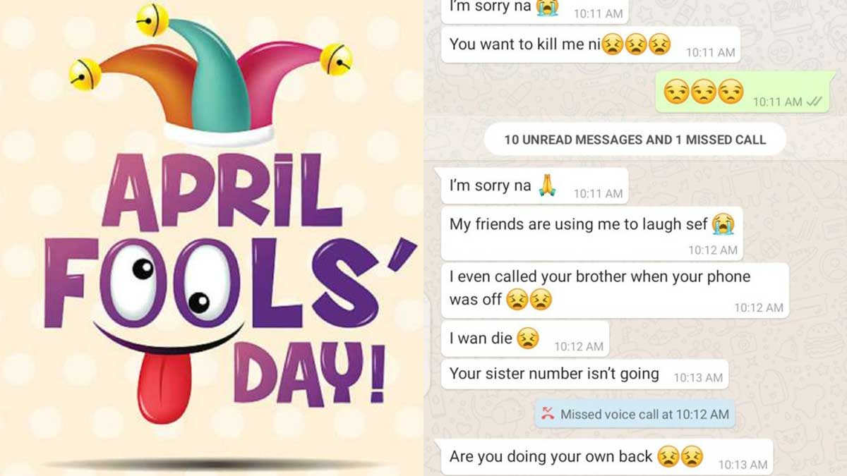 April Fool's Day prank ends in tears after lady told her boyfriend she's in love with someone else