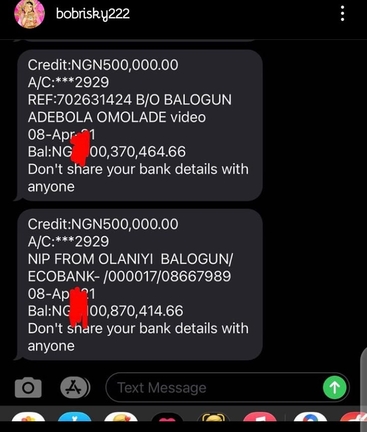 bobrisky 2 Bobrisky Shares His Billion Naira Account Balance On Social media