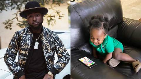 Davido reunites with son, Ifeanyi amid claims that Chioma would never allow him see his son