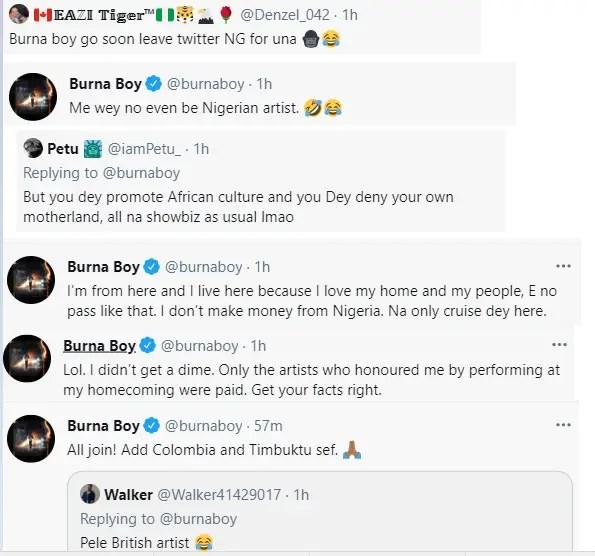 """""""I'm from Nigeria but I'm not a Nigerian artiste"""" – Burna Boy explains 1"""