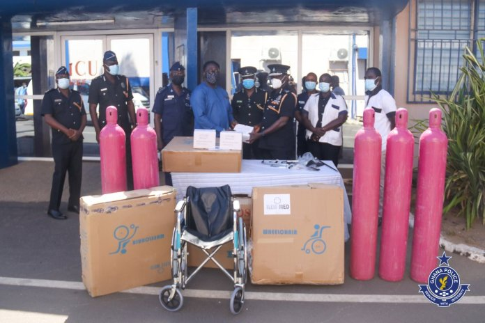 Ghanaians raise alarm after QNET Limited made a donation to the Ghana Police Service 3