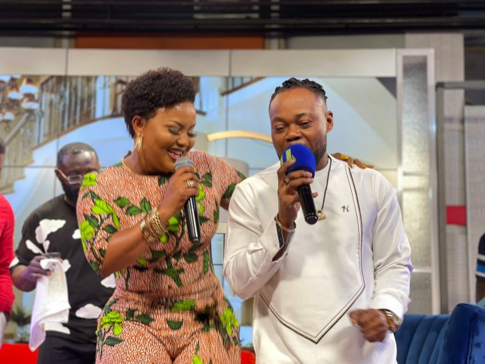 Nana Ama McBrown shows her singing abilities as she thrills viewers with her epic performance with Dada KD on UTV - (Video). 48