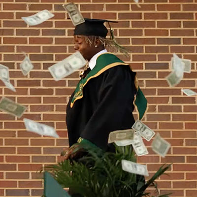 US rapper, Metro Marrs arrested after spraying $10,000 at his high school graduation (Photos/Video)