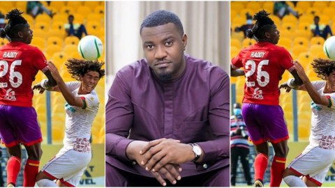 Flashback: 'If Kotoko win against Hearts, I will sweep the whole stadium'– John Dumelo obviously laughing like last killer after Hearts won