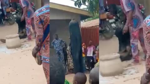 Unfortunate moment masquerade's spiritual powers failed him as bullet fired at him penetrates his body [Video]
