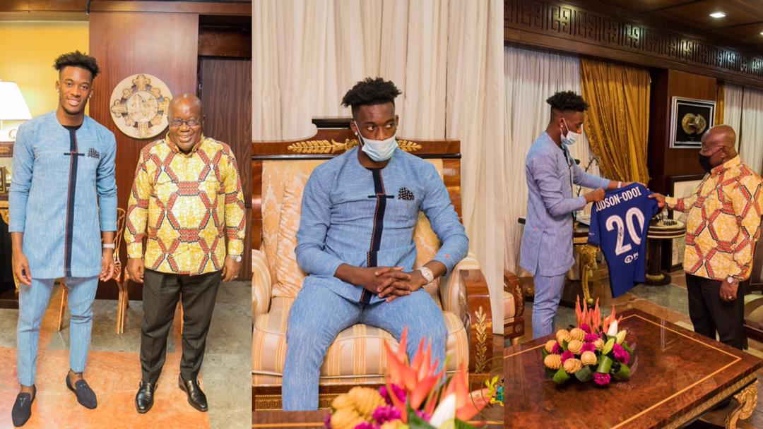 """""""Work hard to convince Callum Hudson-Odoi to play for Ghana"""" – President Akufo-Addo charges Sports Minister after the two met for the first time"""