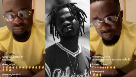 """""""Today, I won't sleep"""" – Fameye's emotional reaction after Sarkodie jammed to his new track """"Praise"""" on IG live [Video]"""