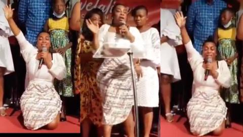 """""""Thank you, Jesus, for saving me"""" – Slayqueen Moesha Boduong weeps as she finally gives her life to Christ in church [Video]"""
