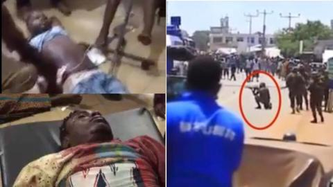 Video account of how 3 people were shot dead by military men at Ejura [Graph!c]