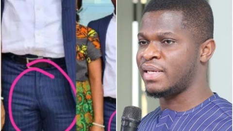 Reactions as photo of Sammy Gyamfi's hardened manhood after he posed with a lady pops up