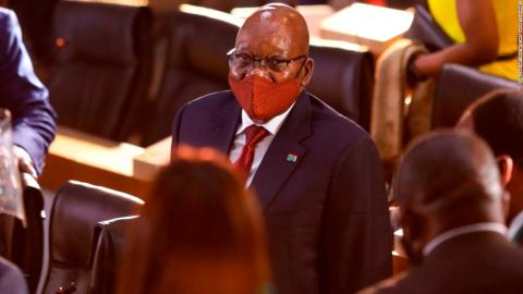 Former South African President Zuma jailed 15 months for contempt of court