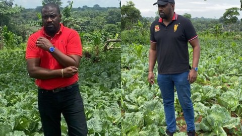 John Dumelo Discloses The Cash He's Making After Selling His Cabbage Every Three Months As A Farmer