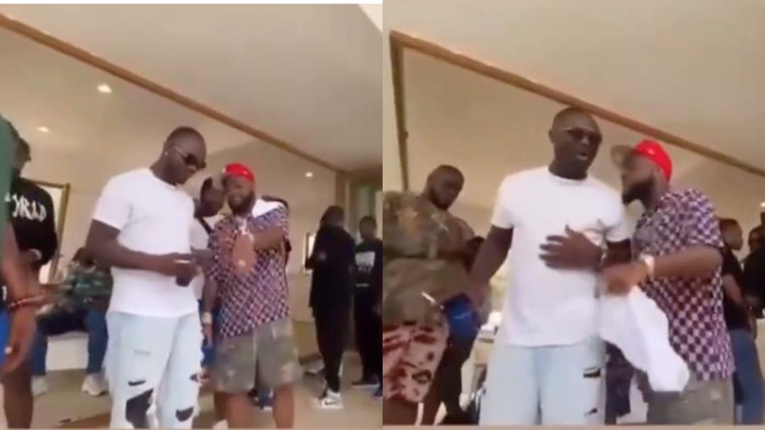 Moment Davido tried to stop his late aide Obama DMW from smoking due to his health issues surfaces online [Video][