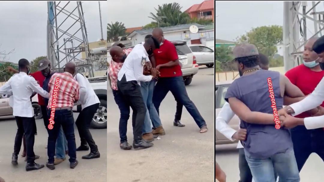 Dansoman: Strong civilian overpowers five police officers as they struggle to handcuff him for allegedly attacking a police officer [Video]