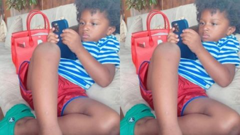 Fans could not believe their eyes after Wizkid bought the latest iPhone12 Pro Max for his 3-year old son Zion
