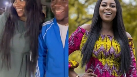 Yvonne Nelson Gushes Over Stonebwoy As They Bump Into Each Other, Says She Loves How He Loves Dr. Louisa [Video]